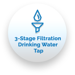 Three Stage Filtration Drinking Water Tap