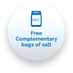 Free Complementary bags of salt